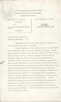 Civil Action No. 79-1042, Charleston Division, Earl Davis, Jr. vs. The City of North Charleston
