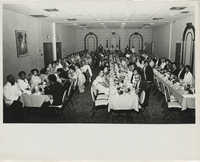 Photograph of a Banquet Hall with Seated Guests