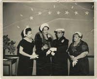 Lucille Poinsette, Ruby Cornwell, Septima P. Clark, E. B. Burroughs, December 23, 1956