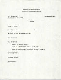Charleston Branch of the NAACP Education Committee Agenda, December 20, 1990