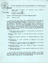 NAACP Memorandum, January 12, 1990