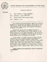 NAACP Memorandum, January 5, 1990