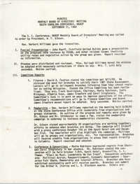 Minutes, South Carolina Conference of Branches of the NAACP, September 11, 1982