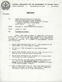NAACP Memorandum, August 3, 1990