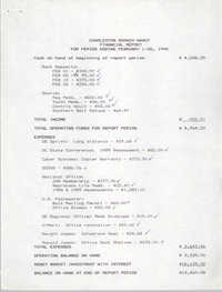 Charleston Branch of the NAACP Financial Report, February 1990