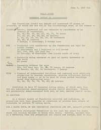Tally sheet - Progress report on Ansonborough