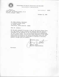 Letter from James T. Coats to Esau Jenkins, October 15, 1969