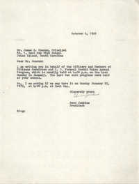 Letter from Esau Jenkins to James B. Coaxum, October 6, 1969