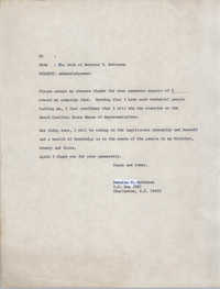 Letter from Bernice Robinson to Financial Supporters, 1972