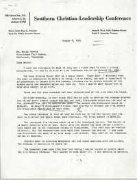 Letter from Septima P. Clark to Myles Horton, August 6, 1961