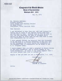 Letter from Andrew Young to Bernice Robinson, May 14, 1973