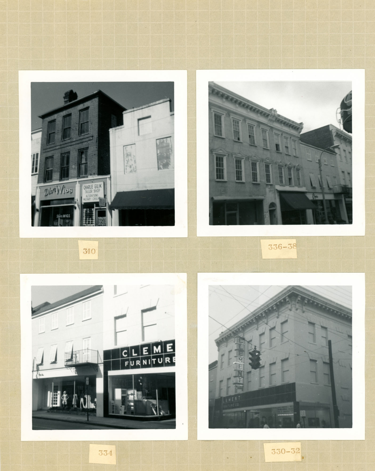 King Street Survey Photo Album, Page 11 (front): 330-342 King Street