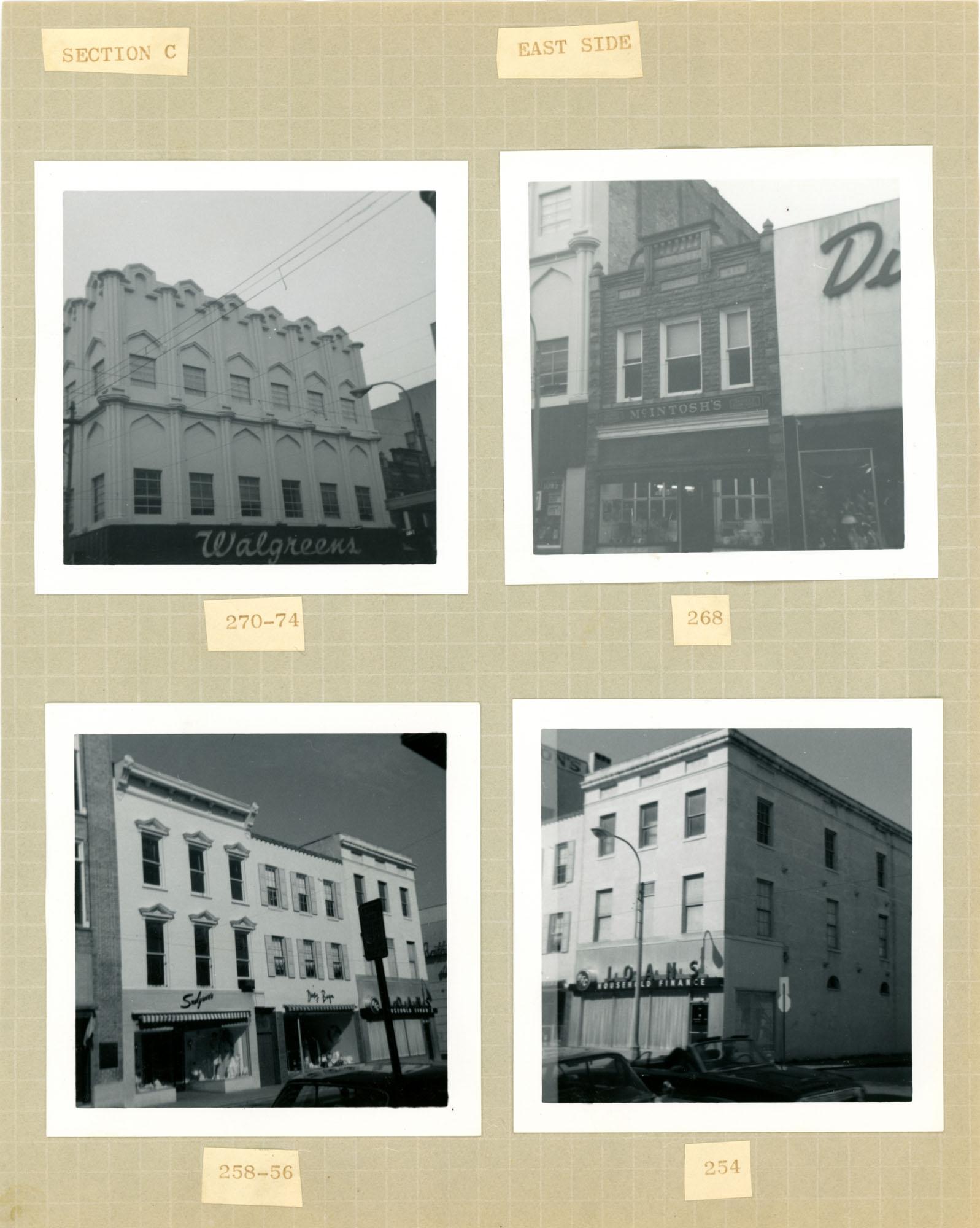 King Street Survey Photo Album, Page 7 (back): 254-274 King Street