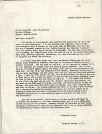 Letter from Margaret Barnes to Oliver Woodruff, 1968