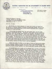 NAACP Memorandum, February 20, 1963
