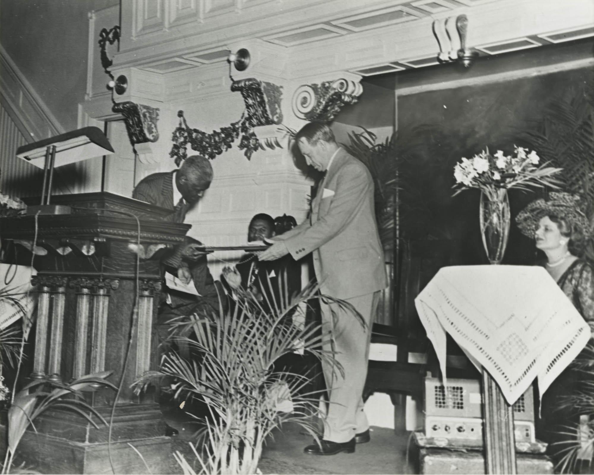 Photograph of Benjamin E. Mays and J. Waties Waring