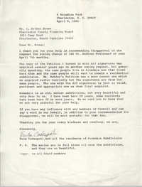 Letter from Eula Codespoti to J. Arthur Brown, April 9, 1980