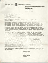 Letter from John E. Huguley to Robert B. Scarborough, October 29, 1971