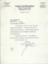 Letter from Mendel J. Davis to J. Arthur Brown, February 25, 1972