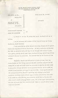 Civil Action No. 79-1042 Affidavit of Thomas P. Stoney, II, Charleston Division, Earl Davis, Jr. vs. The City of North Charleston
