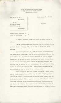 Civil Action No. 79-1042 Affidavit of James L. Bridges, Charleston Division, Earl Davis, Jr. vs. The City of North Charleston