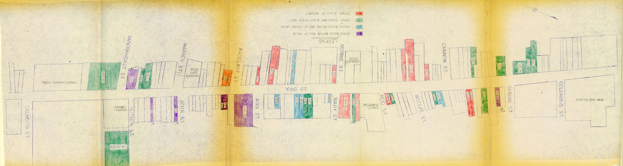 King Street Survey Map 2: King Street from Calhoun to Columbus - Historical Significance