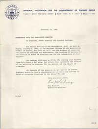 NAACP Memorandum, December 14, 1964
