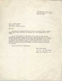 Letter from H. A. DeCosta, Jr. to J. Arthur Brown, May 25, 1965