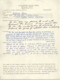 Saint Matthew Baptist Church Final Report, August 1965