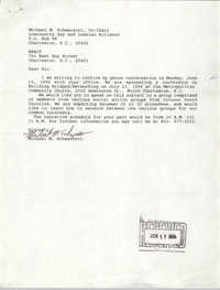 Letter from Michael M. Schwarzott to Charleston Branch of the NAACP, June 17, 1994