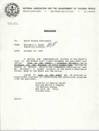 NAACP Memorandum, October 23, 1990