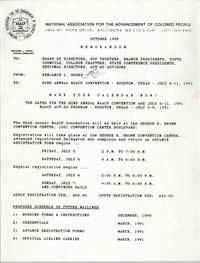 NAACP Memorandum, October 1990