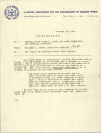 NAACP Memorandum, October 30, 1980