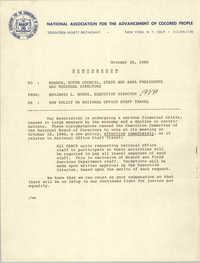 NAACP Memorandum, October 30, 1980