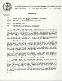 NAACP Memorandum, October 24, 1990