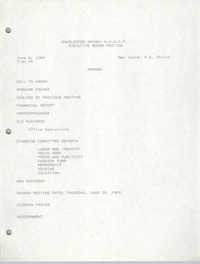 Agenda, Charleston Branch of the NAACP Branch Executive Board Meeting, June 6, 1989