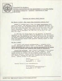 Questions and Answers About Lobbying, Washington Bureau of the NAACP