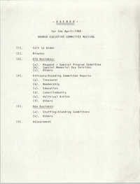 Agenda, General Membership Meeting of the Charleston Branch of the NAACP, April 1985