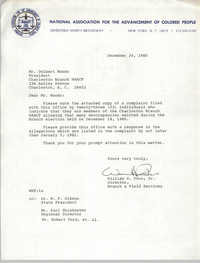 NAACP Memorandum, December 24, 1980