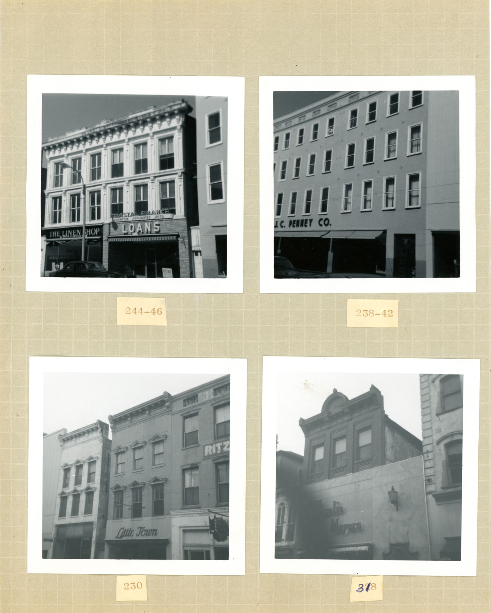 King Street Survey Photo Album, Page 7 (front): 226-246 King Street / 316 King Street