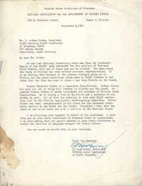 Letter from A. Leon Lowry to J. Arthur Brown, September 4, 1962