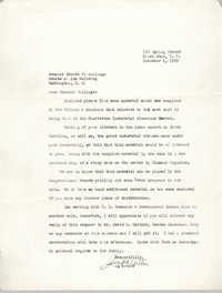 Letter from J. Arthur Brown to Ernest F. Hollings, December 1, 1969