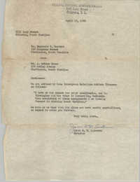 Letter from James R. D. Anderson to Reginald C. Barrett and J. Arthur Brown, April 19, 1962