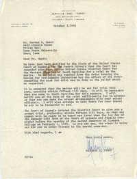 Letter from Matthew J. Perry to Harvey P. Gantt, October 5, 1962