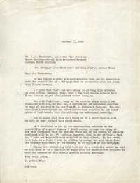 Letter from J. Arthur Brown to J. J. Henderson, October 27, 1962