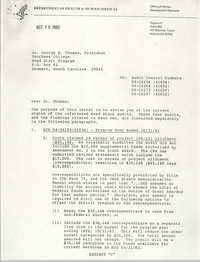 Letter from Alan P. Weimer to George B. Thomas, October 13, 1982