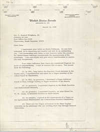 Letter from Ernest F. Hollings to J. Howard Wrighten, III, March 13, 1968