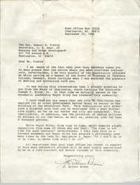 Letter from J. Arthur Brown to Samuel R. Pierce, September 23, 1985