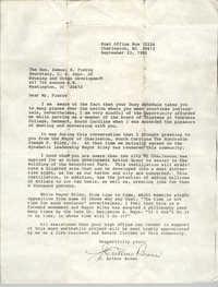 Letter from J. Arthur Brown to Samuel R. Pierce, September 23, 1985