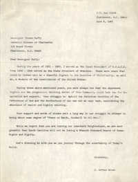 Letter from J. Arthur Brown to Thomas Duffy, June 8, 1987